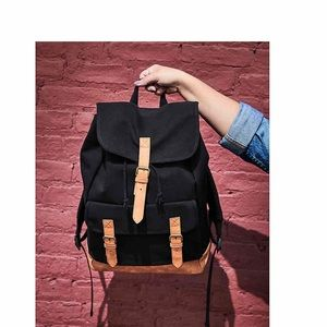 Brand New Black Canvas backpack DSW